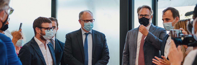 Il Ministro dell'Economia e delle Finanze On. Roberto Gualtieri visita la sede di Network Contacts