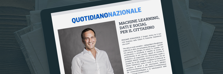 Machine Learning, Dati e Social per il cittadino